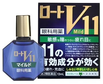 f8b01a9ecaed ROHTO V11 Mild Глазные капли для чувствительных глаз, без ментола 13 мл